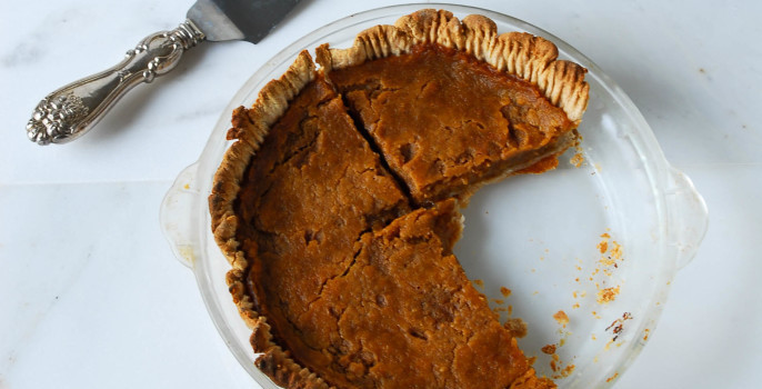Vegan Pumpkin Pie with Coconut Oil Crust from the Frosted Vegan