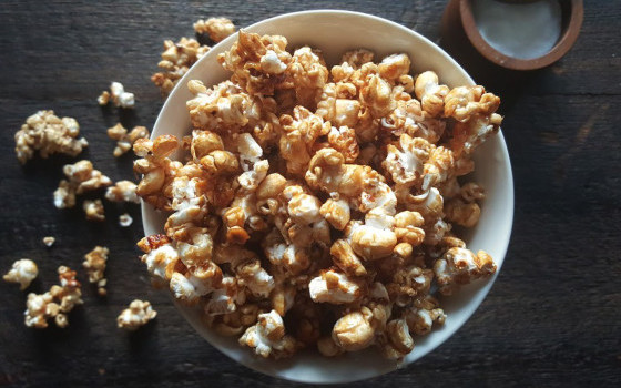 Salted Caramel Popcorn from Eat. Laugh. Craft.