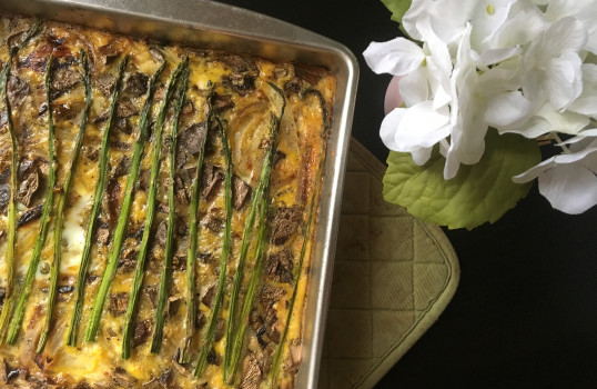 Pork Crusted Egg Bake from You Thyme