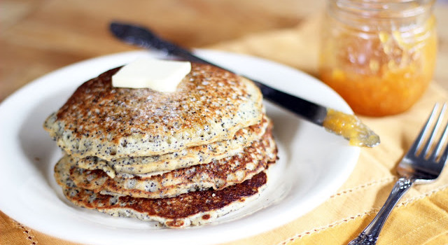 Lemon Poppyseed Pancakes from Burp!