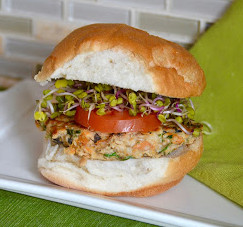 Kale and Sweet Potato Turkey Burgers from Yummy Sprout