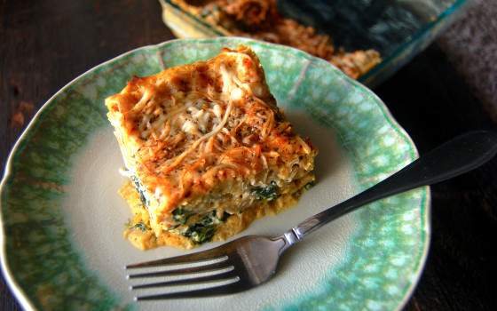 Butternut Squash & Spinach Lasagna from Eat Laugh Craft