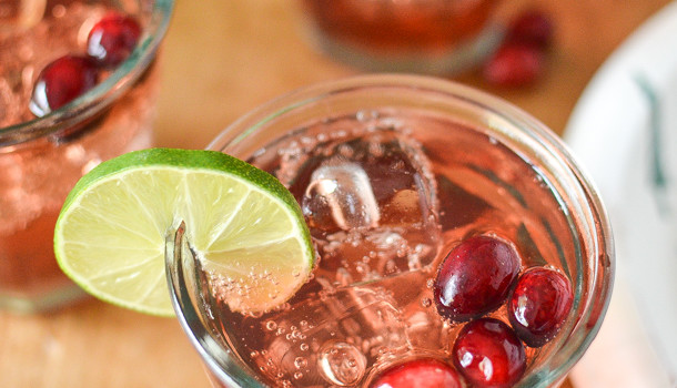 Cranberry Ginger Margaritas from Simply Whisked