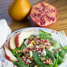 Spinach Pear Pomegranate Salad from Art of Natural Living