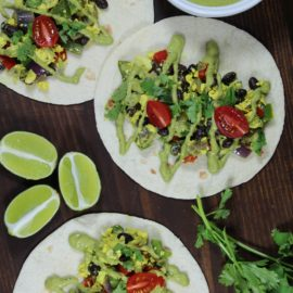 Southwest Breakfast Tacos from Vegan Tattooed Foodie