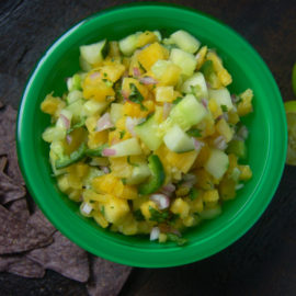 Pineapple Cucumber Salsa from Eat. Laugh. Craft.