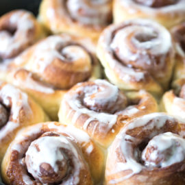 Cinnamon Rolls with Dairy Free Glaze from Simply Whisked