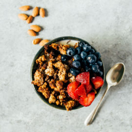 Oat + Almond Pulp Granola from Heart of a Baker