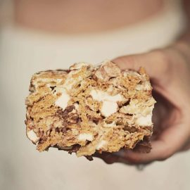 Sweet & Salty S'Mores Bar Recipe from Show Me The Yummy