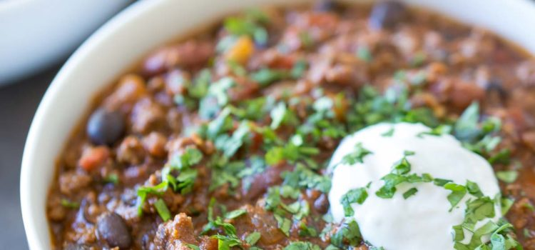 Quick and Easy Beer Chili from Simply Whisked
