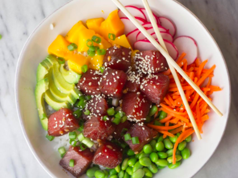 Ahi Tuna Poke Bowl from The Gourmet RD