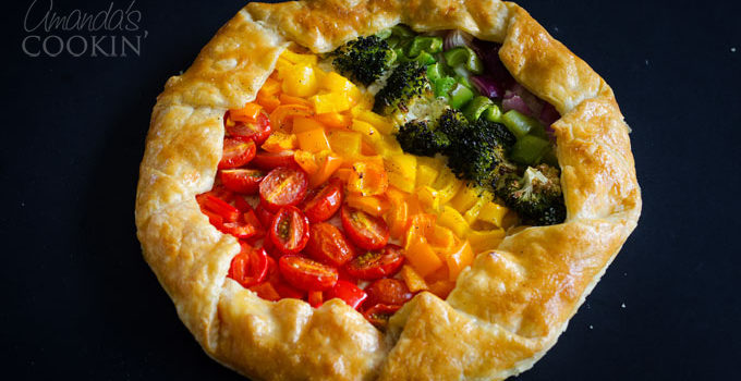Vegetable Rainbow Tart from Amanda's Cookin'