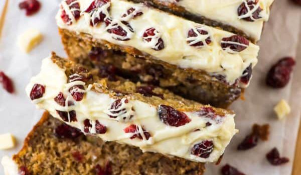 Cranberry Cream Cheese Banana Bread from Well Plated